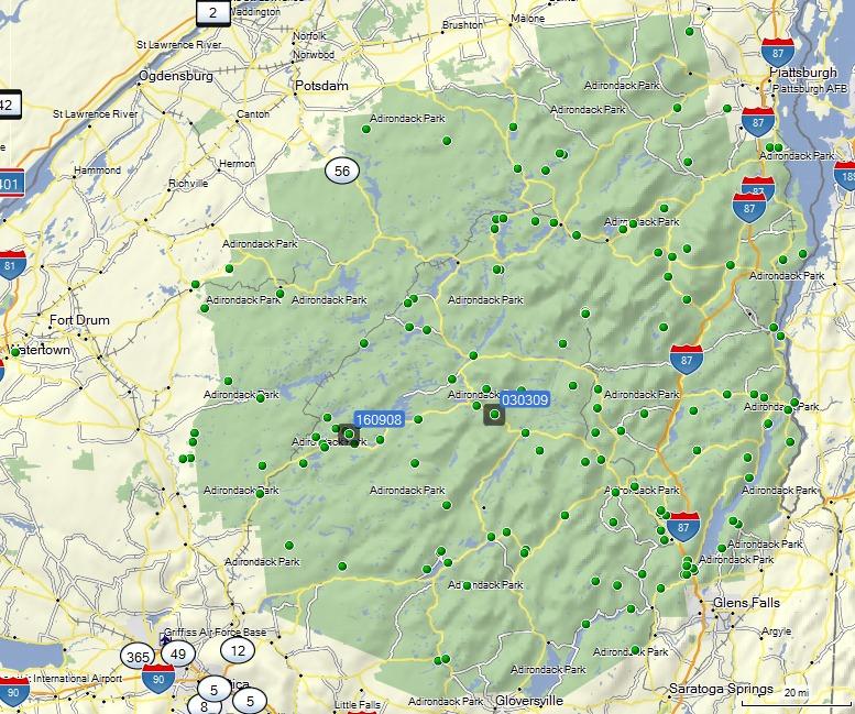 GCE152 Adirondack Traveler Unknown Cache in New York United – World Traveler Map Set
